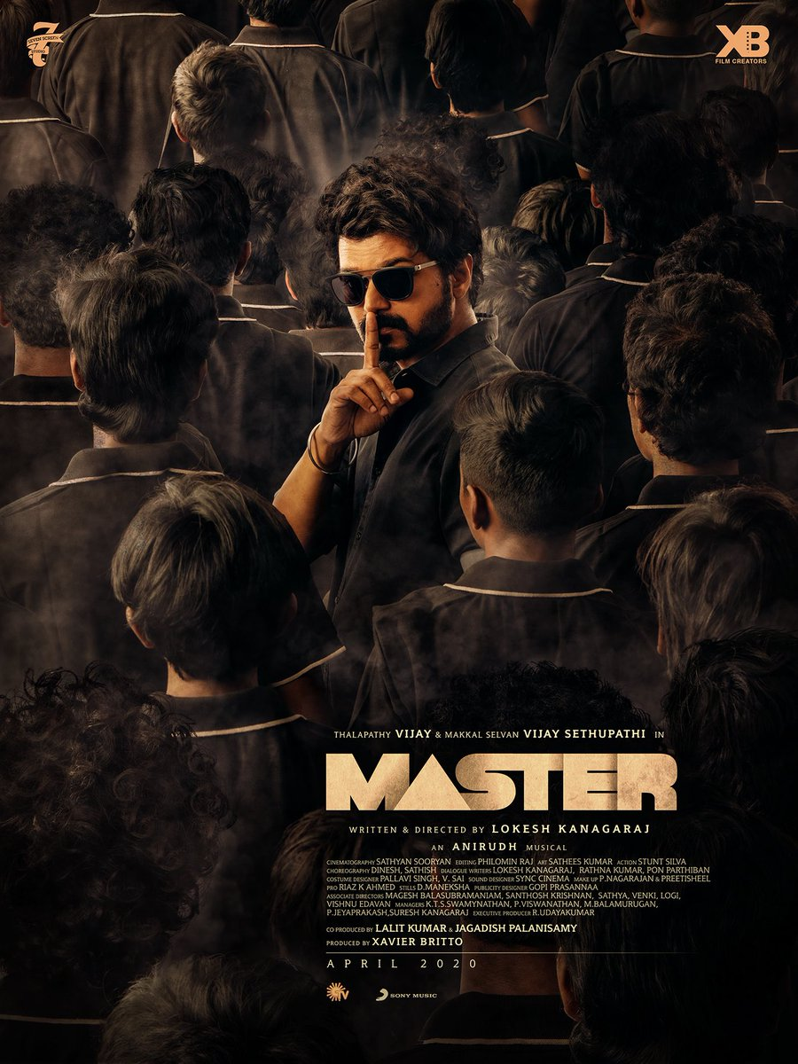 master film second look actor vijay image